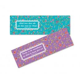 Set of 2 floral bookmarks...