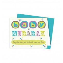 New Baby Mubarak Card