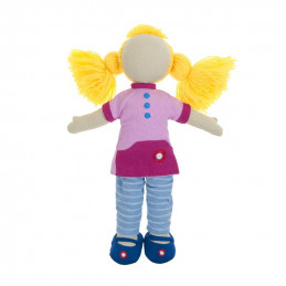 Fair trade girl doll set -...