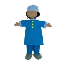 Fair trade boy doll set -...